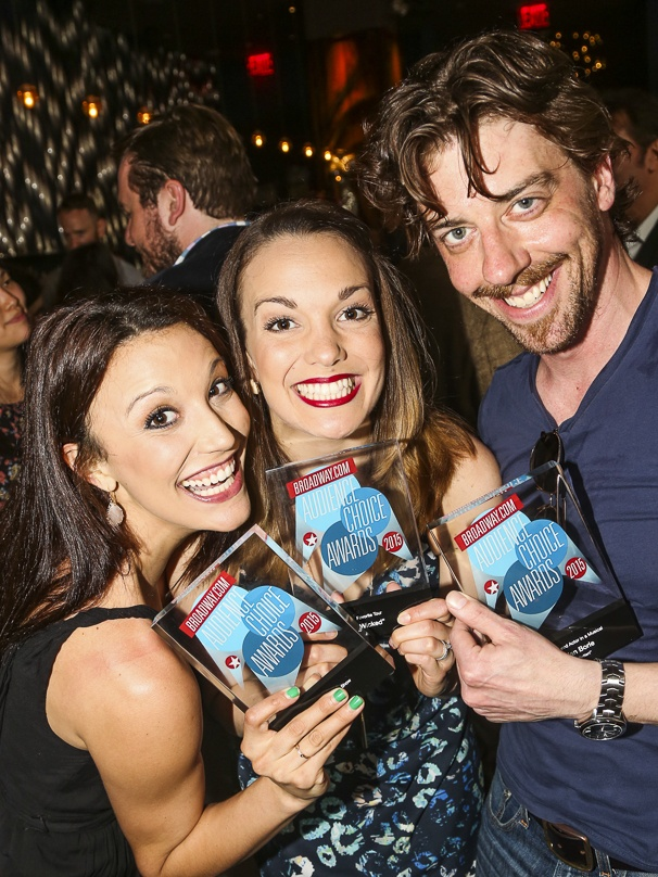 Broadway.com - Audience Choice Awards - 5/15 - Caroline Bowman - Kara Lindsay - Christian Borle