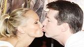 Kristin Chenoweth and Sean Hayes at Tony's Di Napoli – kiss