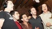 Frankie Valli Recording Session - J. Robert Spencer - John Lloyd Young - Michael Longoria - Daniel Reichard - Christian Hoff