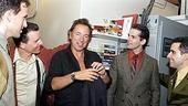 Photo Op - Bruce Springsteen at Jersey Boys - Daniel Reichard - Christian Hoff - Bruce Springsteen - J. Robert Spencer - John Lloyd Young