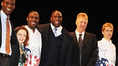 Magic.Bird Opening Night – Robert Manning Jr. – Deirdre O'Connell - Kevin Daniels – Magic Johnson– Larry Bird - Tug Coker