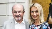 Hamilton - Opening - 8/15 - Salman Rushdie and his date Irina Ovsiannikova