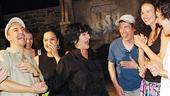 Chita Rivera at In the Heights - cast - Chita Rivera (laughing)