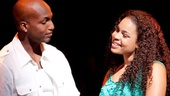 Clifton Oliver as Benny and Jordin Sparks as Nina in In the Heights.