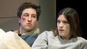 Pablo Schreiber as Doug and Jennifer Carpenter as Kayleen in Gruesome Playground Injuries.