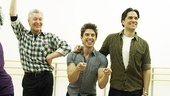Priscilla rehearsal  - Tony Sheldon – Will Swenson – Nick Adams 4