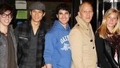 Glee NYC – Kevin McHale - Harry Shum Jr. – Darren Criss – Ryan Murphy – Heather Morris