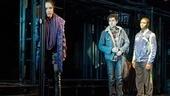 Arianda Fernandez as Mimi Marquez, Adam Chanler-Berat as Mark Cohen and Ephraim Sykes as Benjamin Coffin III in Rent.