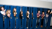Hair Cast at Mets Game – group shot lockers