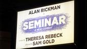 Seminar Opening Night – marquee