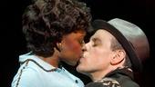 Montego Glover as Felicia Farrell and Adam Pascal as Huey Calhoun in Memphis.