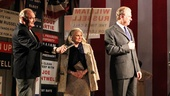 Candice Bergern as Alice Russell, John Larroquette as Secretary William Russell and the cast of The Best Man.