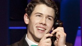 Nick Jonas as J. Pierrepont Finch in How to Succeed in Business Without Really Trying.