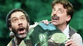 Kevin Del Aguila as Smee and Christian Borle as Black Stache in Peter and the Starcatcher.