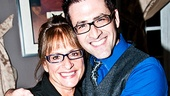 Patti LuPone gets a big squeeze from Patti Issues writer and star Ben Rimalower.