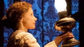 Jessica Chastain as Catherine Sloper in The Heiress.