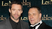 Les Miserables London premiere – Hugh Jackman – Russell Crowe