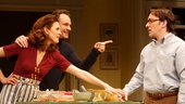 Jessica Hecht as Julie, Jonathan Walker as Ben and Jeremy Shamos as Jeff in The Assembled Parties.