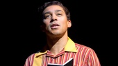 Charl Brown as Smokey Robinson in Motown: The Musical.
