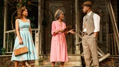 Vanessa Williams as Jessie Mae Watts, Cicely Tyson as Carrie Watts and Cuba Gooding Jr. as Ludie Watts in The Trip to Bountiful.