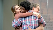 Marin Hinkle as Amy, Okieriete Onaodowan as Luce & Neal Huff as Peter in Luce