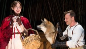 Emily Young as Little Red Ridinghood & Noah Brody as The Wolf in Into the Woods