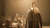 Lydia Leonard as Anne Boleyn and the cast of Wolf Hall