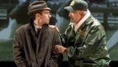 Keith Nobbs as Michael McCormick and Dan Lauria as Vince Lombardi in Lombardi.