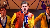 Aaron Tveit as Frank Abagnale Jr. and cast in Catch Me If You Can.