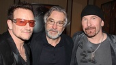 Spider-Man opening – Bono – Robert De Niro – The Edge