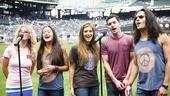 Hair Cast at Mets Game – Kacie Sheik – Kaitlin Kiyan – Laura Dreyfuss – Paris Remillard – Steel Burkhardt