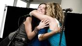 Hair Cast at Mets Game – Allison Case – Kacie Sheik – Kaitlin Kiyan (group hug)