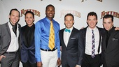 <i>Follies</i> opening night – Clifton Samuels, Matthew deGuzman, Lawrence Alexander, Brandon Bieber, Amos Wolff and John Carroll