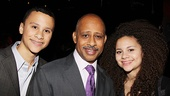 <i>Stick Fly</i> Opening Night – Ruben Santiago-Hudson and kids