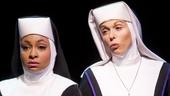 Raven-Symoné as Deloris Van Cartier and Carolee Carmello as Mother Superior in Sister Act.