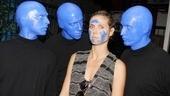 Blue Man Group – Heidi Klum Visit – Blue Men – Heidi Klum