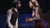 Adam Kantor as Motel and Alexandra Silber as Tzeitel in Fiddler on the Roof.