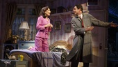 Laura Benanti as Amalia and Zachary Levi as Georg in She Loves Me.