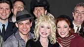 Dolly Parton at Bonnie & Clyde - Jeremy Jordan – Dolly Parton – Laura Osnes – the cast of <i>Bonnie & Clyde</i>