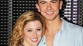 Caissie Levy and Richard Fleeshman have been falling in love onstage since Ghost began in London, and they are still loving one another's company.