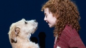 Sunny as Sandy and Lilla Crawford as Annie in Annie.