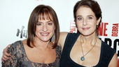 They may play rough on stage, but co-stars Patti LuPone and Debra Winger get along well offstage. The two were playing around and making jokes for the opening night press.