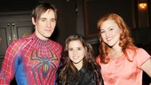 Carly Rose Sonenclar visits 'Spider-Man' - Reeve Carney - Carly Rose Sonenclar - Rebecca Faulkenberry