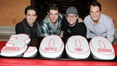 Jersey Boys - 3000th Performance - John Lloyd Young - Drew Gehling - Jeremy Kushnier - Matt Bogart