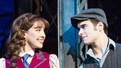 Liana Hunt as Katherine Plumber & Corey Cott as Jack Kelly in Newsies. Photo by Matthew Murphy