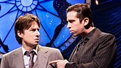 Zach Braff as David Shayne & Nick Cordero as Cheech in Bullets Over Broadway