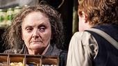 Gillian Hanna as Eileen Osbourne & Conor MacNeill as Bartley McCormick in The Cripple of Inishmaan