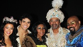 Aladdin - backstage - 9/14 - Courtney Reed - Adam Jacobs - Aretha Franklin - Clifton Davis - James Monroe Iglehart