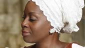 Saycon Sengbloh as Helena and Akosua Busia as Rita in Eclipsed