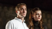 Oliver Chris as Prince William and Lydia Wilson as Kate in King Charles III.